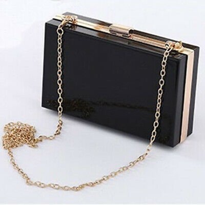 Acrylic Clear Clutches Handbag Women Girls Party Purses Summer Trendy Box T