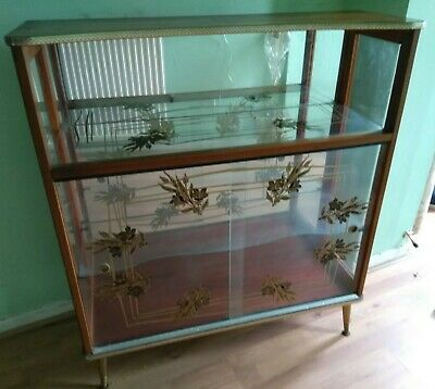 Vintage/Retro Glass/Mirror Display Cabinet - c50 Years Old