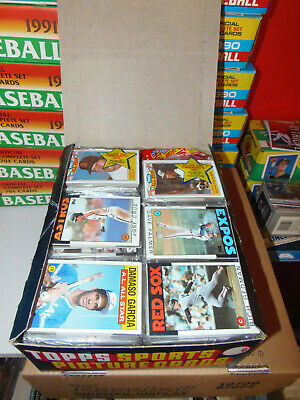 1986 Topps Baseball Rack Box 24 Racks Rose Puckett Clemens Sandberg
