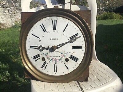 French Comtoise Tall Clock Morbier Double Train Drive Grandfather Wag On Wall