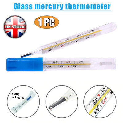1PC Glass Thermometer Large Screen For Kids Adults Clinical Medical Thermometer