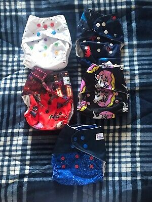 Lot Of 5 GIRLY Cloth Diapers Pockets