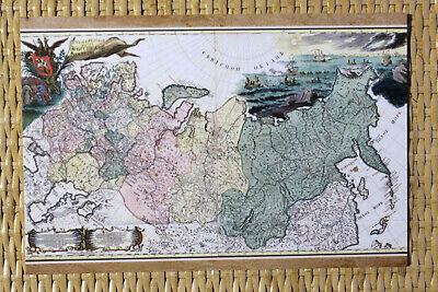 Mint MAP Postcard: RUSSIA - Antique map of RUSSIAN EMPIRE 1745 - modern reprint