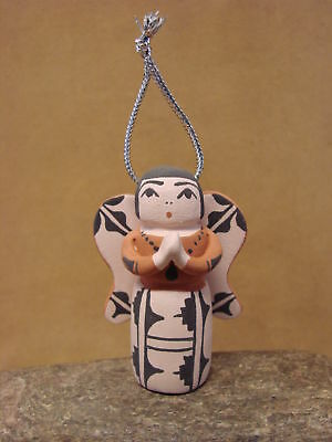 Jemez Indian Pueblo Handmade Clay Angel Storyteller Ornament by Bailon CO439
