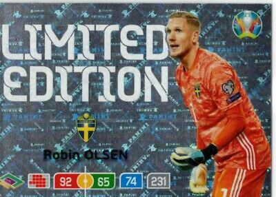 Panini Adrenalyn XL EURO 2020 Limited Edition Robin Olsen