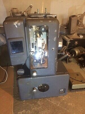 Simplex XL 35 mm projector with Century sound head visible Kelmar reverse scan