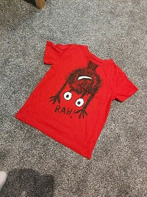 Boys Red Monster T Shirt George BNWOT Age 5-6