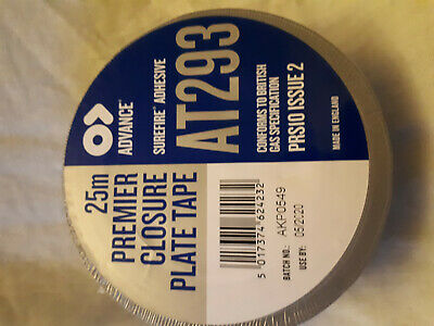 Advance Tapes AT293 Gloss Silver Closure Plate Tape, 25m x 50mm - 2 FOR SALE