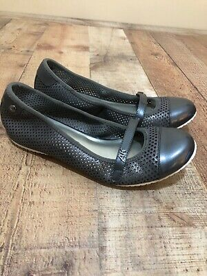 Anne Klein Sport Womens Gray / Silver Ballet Flats Shoes Size 7 M Shoes