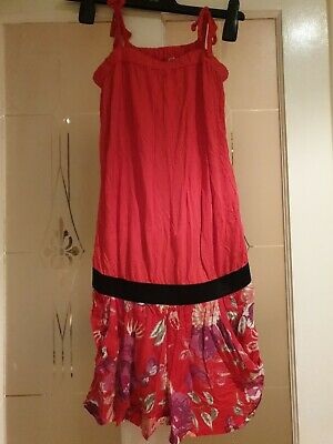 "Girls Red Patterned Top And Joined Shorts Size 34"" chest"
