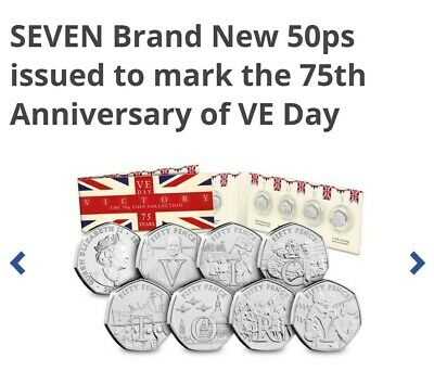 The Complete Victory BU 50p Collection 50th anniversary of VE day 2020 LOOK !
