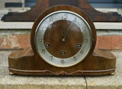 "H.A.C. dual chime ""loudspeaker""mantel clock.Westminster/Whittington.SEE VIDEO."