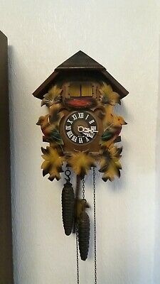Rare Double Black Forest Cuckoo Clock,German,Working Order,New Bellows Fitted