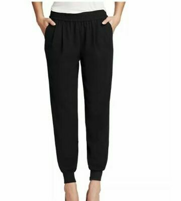 Joie Women's Black Mariner Pleated Jogger Pants Size Small