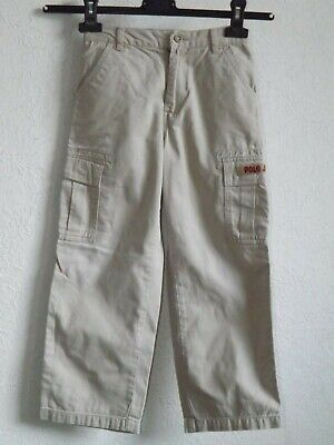 Polo Jeans Co Ralph Lauren chino boys cotton beige summer trousers size 7 Years