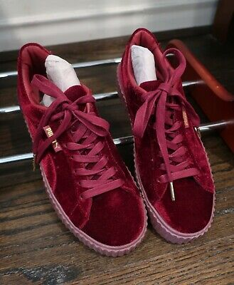 New without Box FREE SHIPPING Rihanna Fenty X Puma Red Velvet Creepers US 7.5