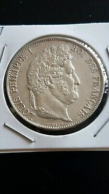 1845 Silver France Louis philippe 5 Francs