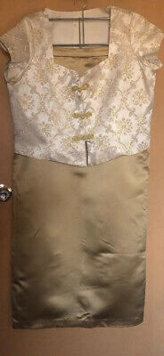 Vintage Bridesmaid Outfit Top And Skirt Gold 14-16