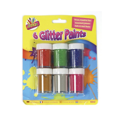 Childrens Glitter Paint Pot Sets Poster Painting Kids Arts and Crafts Set