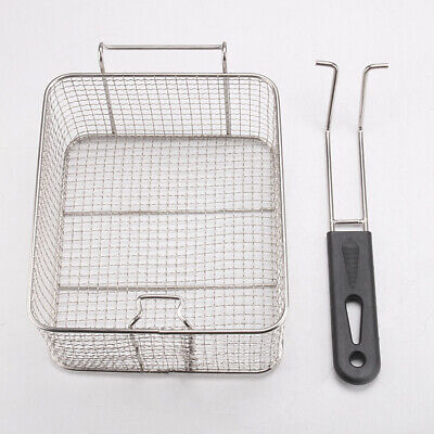 Kitchen Tool Fryer Fry Basket Hanging Food Stainless Steel  Handle Square