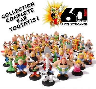 Collection Complete 60 Figurines Asterix Mcdo Mcdonalds Neuf