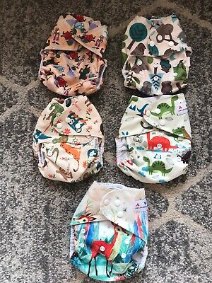 Lot Of 5 Cloth Diapers-Boys Pockets