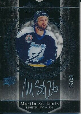 2015/16 Upper Deck UD Black CC-MS Martin St. Louis Cup Coronation HARD SIGNED