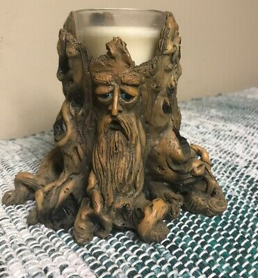 Gothic Tree Mythical4 in Resin Candle Holder by Adams Apple Blacklite Reactive