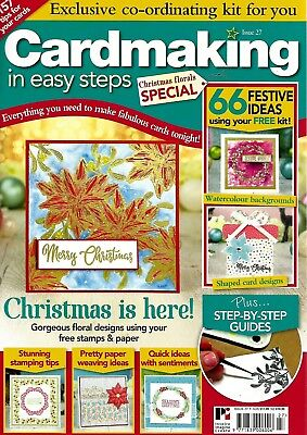 Cardmaking  In Easy Steps Magazine Issue 27. 2018. Free Christmas Florals Stamps