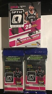 2019-20 Optic Donruss Basketball Blaster Box And 2 Optic Cello Fat Pack's
