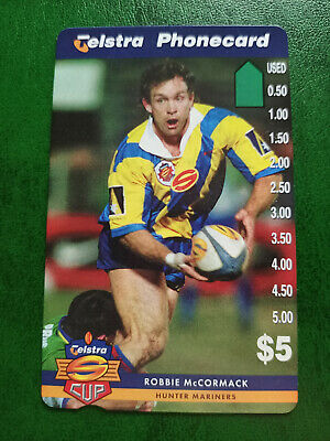 $5 1997 Super League - Hunter Mariners - Robbie McCormack Phonecard Prefix 1506