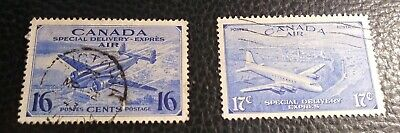 Canada  Scott's #CE2-3.Used. Air Mail-Special Delivery.  sal's stamp store