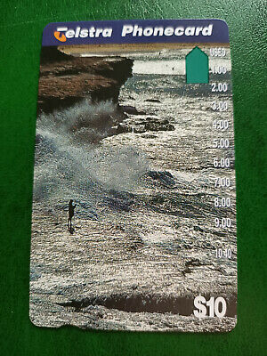 $10 Fishing Off The Rocks Phonecard Prefix 1438