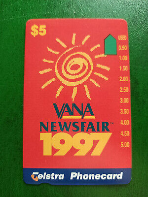 $5 Vana News Fair 1997 Phonecard Prefix 1435 Only 2000 Issued