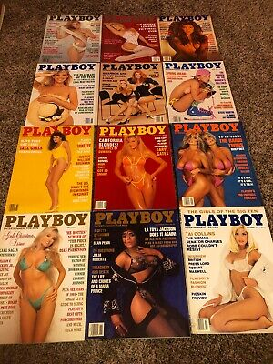 Lot #56 Playboy Magazine Full Year Complete Collection Set  1991 12 Issue Lot