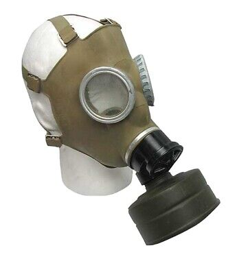 Military New NOS Surplus Full Face Gas Mask Respirator MC-1 w 40mm Filter & Bag