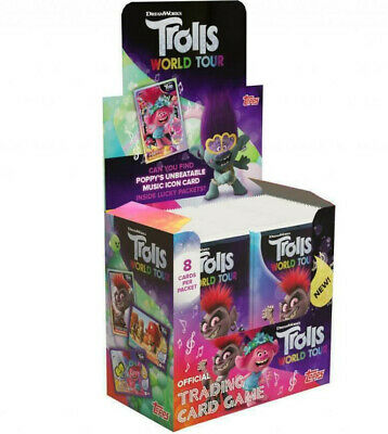 Topps Trolls World Tour Trading Cards Box 36 Packets Per Display Box