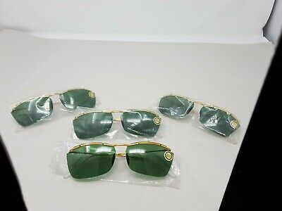 NOS Vintage Sabre Unbreakable Sunglasses Green Lens LOT OF 4 PIECES 1950 - 1960