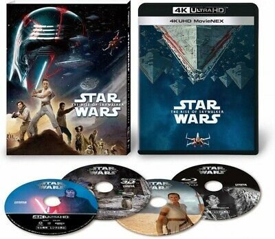 New Star Wars The Rise Of Skywalker 4K ULTRA HD+3D+2D Blu-ray Japan VWES-6997