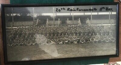 Original framed photo of the 20th Reinforcements of the 11th BN 1st AIF