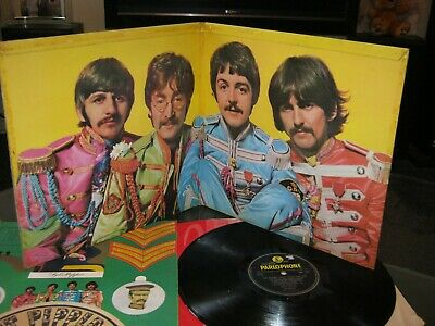 the beatles sgt peppers 1st press mono y/b parlophone 1967