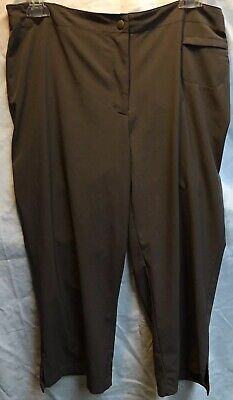 Zenergy by Chico's Women's Brown Cropped Capri Cargo Pants Size 1 Womens Medium