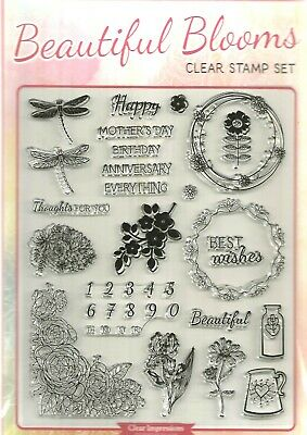 Beautiful Blooms Clear  Stamp Set.