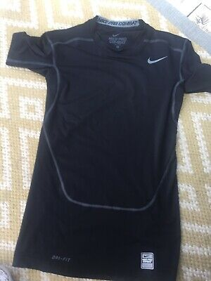 Nike Pro Combat Dri Fit Mens Sport Top Black S