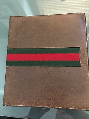 GUCCI  NOTEBOOK BROWN LEATHER , vintage, 70's - good condition!