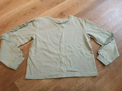 H&M Light Green Girls Crop Jumper Size - 8 to 10 Years