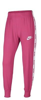 NIKE Sportswear Girls Pink White Tracksuit Bottoms 9-11 Years BNWT