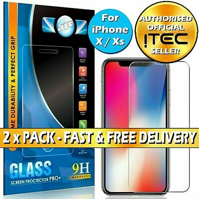 For iPhone 11 Pro X XR XS Max Curved Full Cover Tempered Glass Screen uk seller