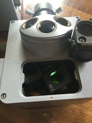Leitz Fluoresent Nosepiece For Orthoplan Microscope With 4 Cubes Installed