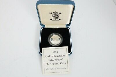 UK Royal Mint 1995 silver proof  £1 coin